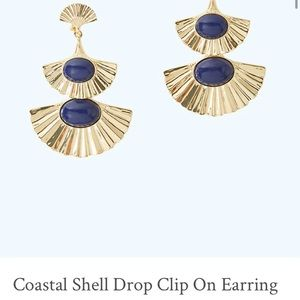 Lilly Pulitzer Shell Clip On Earrings